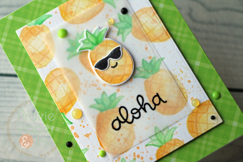 Technique: Faux No Line Coloring Pineapple Card