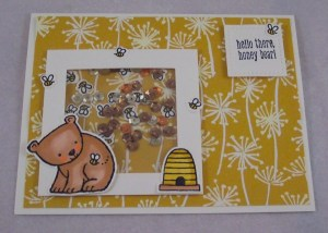Project: Bear and Bee Shaker Card
