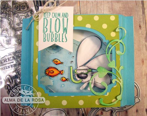 Project: Swimming Bunny Shadow Box Card