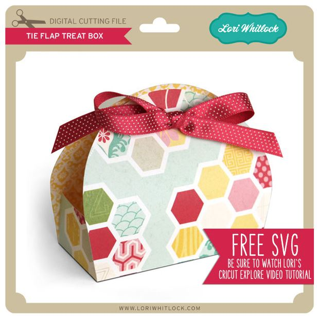 Download: Tie Flap Treat Box SVG File