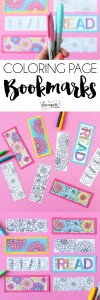 Printable: Coloring Page Book Marks