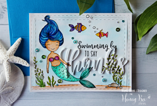 Project: Mermaid with Layered Die Cut Sentiment Card