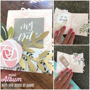 Project: One Sheet Mini Scrapbook Album
