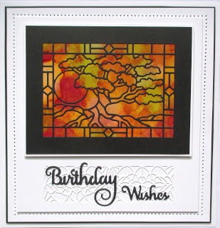 Technique Stained Glass Window Card