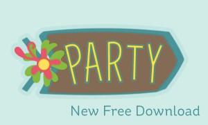 Download: Tiki Party Sign Die Cut