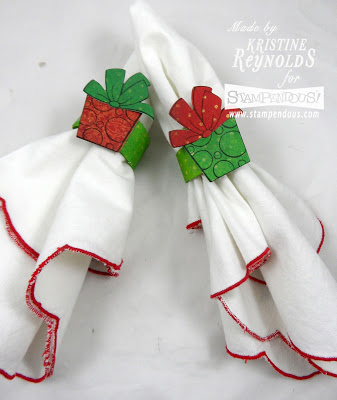 Projects: Christmas in July Stamped Table Decor