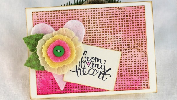 Tip: Quick and Easy Letter Press Card Background