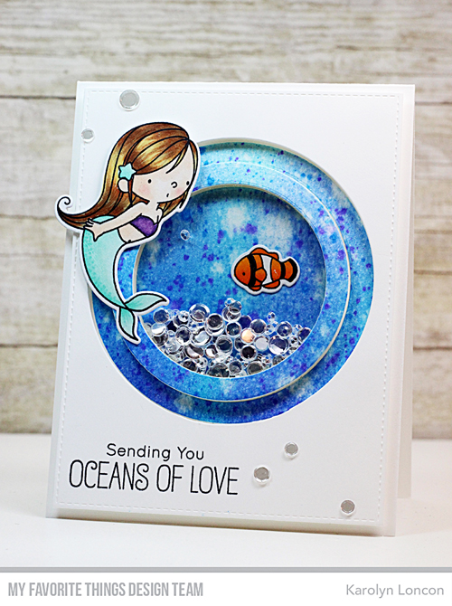Project: Mermaid Spinner and Shaker Card