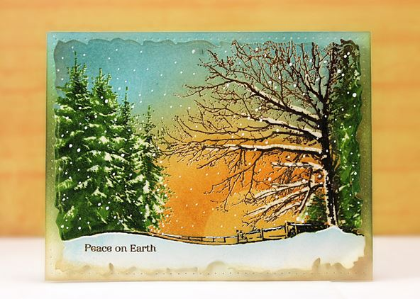 Project: Realistic Snow Scene Card