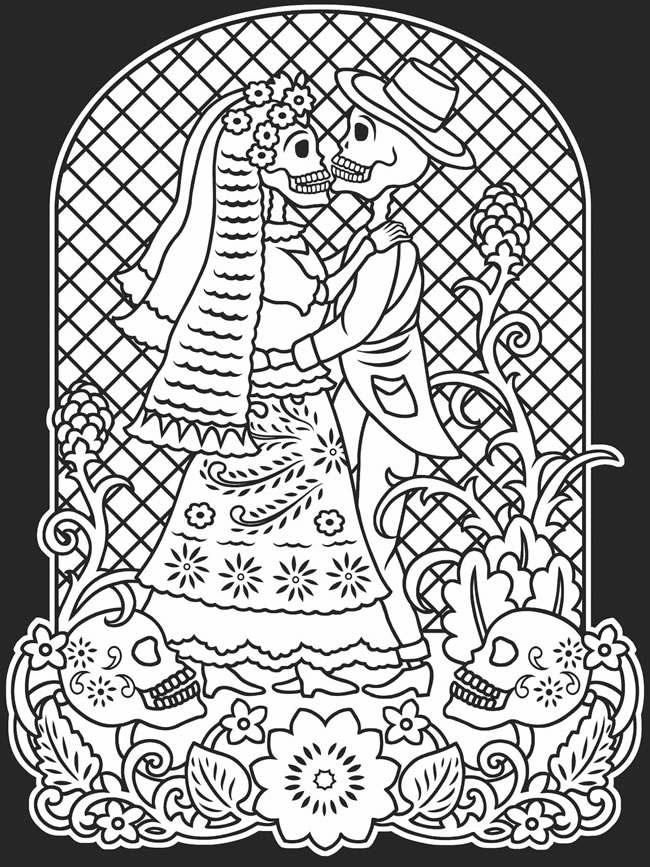 download day of the dead coloring page - Day Of Dead Coloring Pages