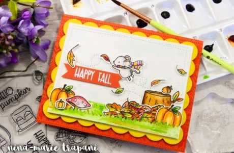 Project: Water Colored Fall Scene Card