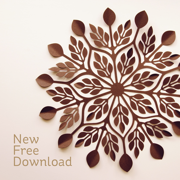 Download: Fall Leaves Doily Cut File