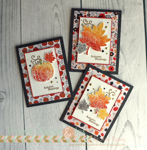Technique: Ombre' Stamping for Fall Cards