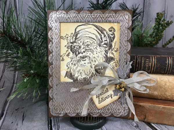 Project: Rustic Vintage Santa Card
