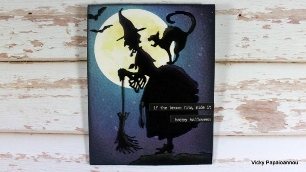 Project: Witch Silhouette Card