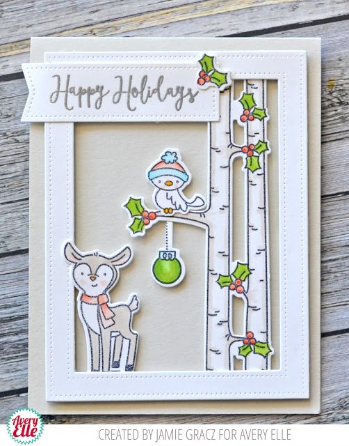 Project: Woodland Winter Scene Card