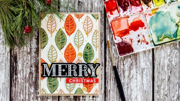 Project: Holiday Leaf Card