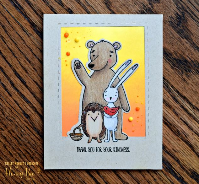 Tip: Thank You Critter Card with Partial Die Cutting