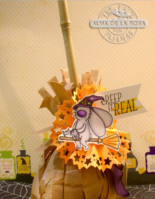 Project: Witches Broom Halloween Treat Bag