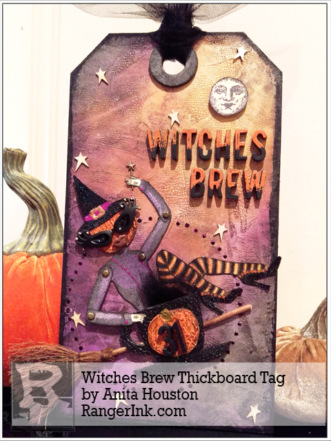 Project: Halloween Witch Mixed Media Tag