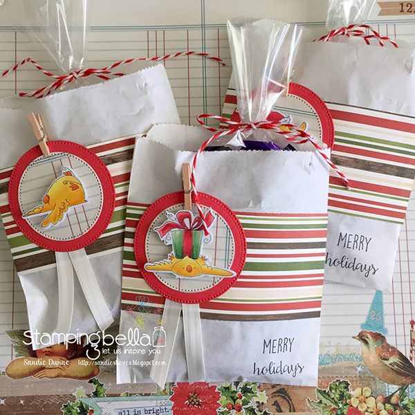 Project: Stamped Christmas Gift Bags
