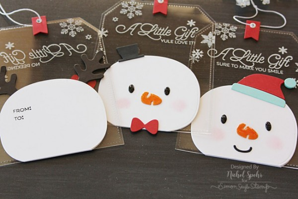 Project: Clear Snowman Gift Tags