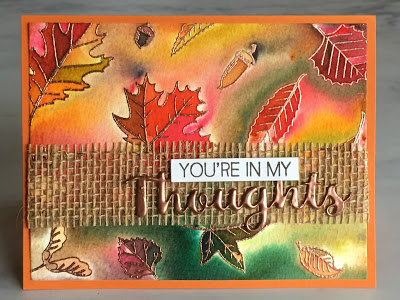 Project: Copper Embossed Leaves Card