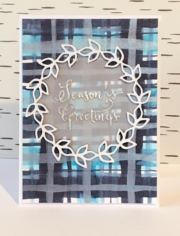 Technique: Card with DIY Plaid Background
