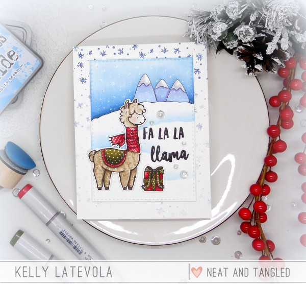 Project: Llama Christmas Card