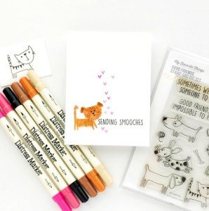 Tip: Coloring a Fuzzy Dog Stamp