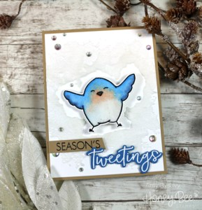 Project: Bird Making a Snow Angel Card