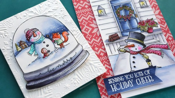Technique: Winter Scene Cards with Water Color Markers