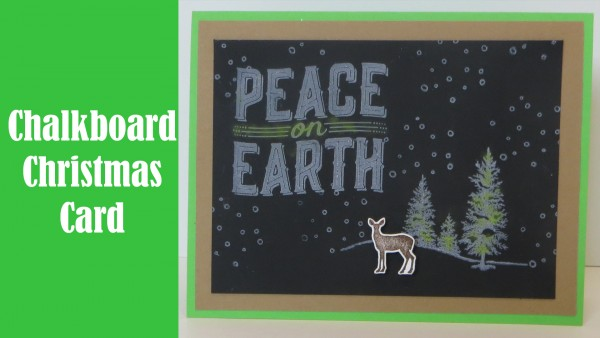 Project: Chalkboard Christmas Card