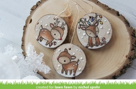 Project: Stamped Wood Ornaments