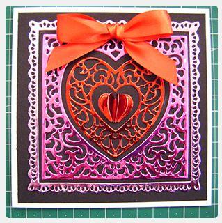 Project: Metallic Valentine Card with 3D Mini Heart Embellishment