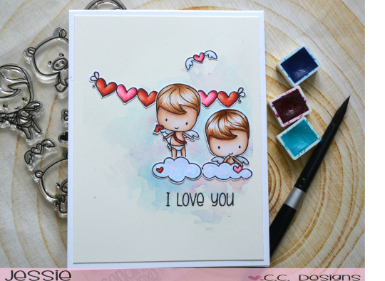 Project: Valentine Cherubs Card