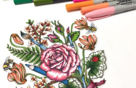 Tips: Coloring with Sharpie Markers