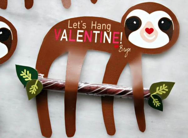 Download: Sloth Valentine Card