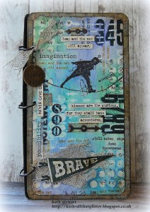 Project: Mixed Media Masculine Notebook Cover