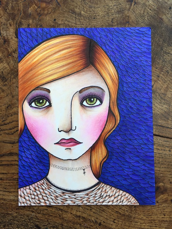 Tip: Mixing Media – Copics and Colored Pencils
