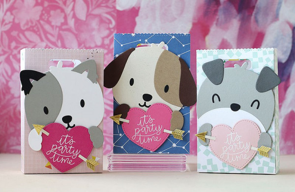 Project: Die Cut Dogs Valentine Treat Bags