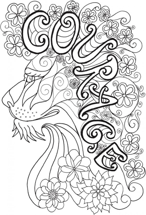 Download: Inspirational Lion Coloring Page