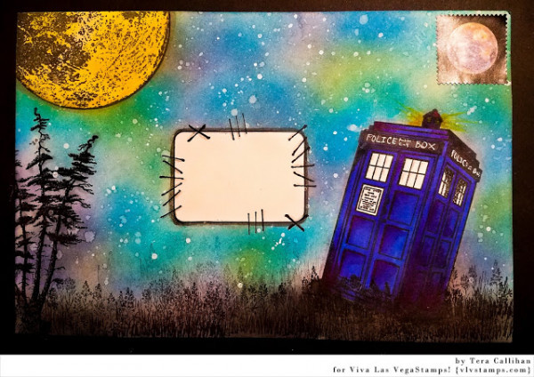 Project: Dr. Who Inspired Envelope Art