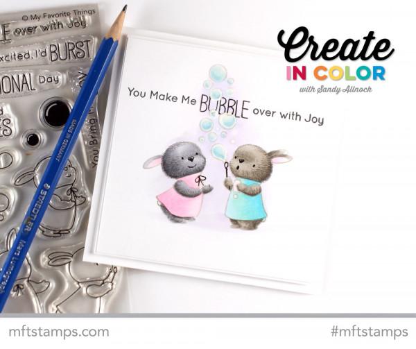 Coloring Technique: Fuzzy Bunnies Card