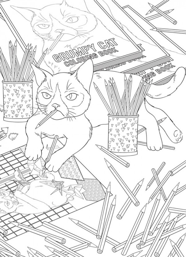 Download Another Grumpy Cat Coloring Page