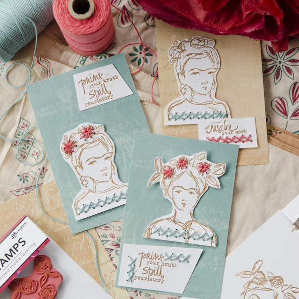 Project: Stitched Frida Cards