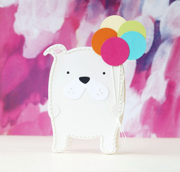 Dog Shaped Card