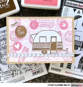 Making Card Backgrounds with Postmark Stamps