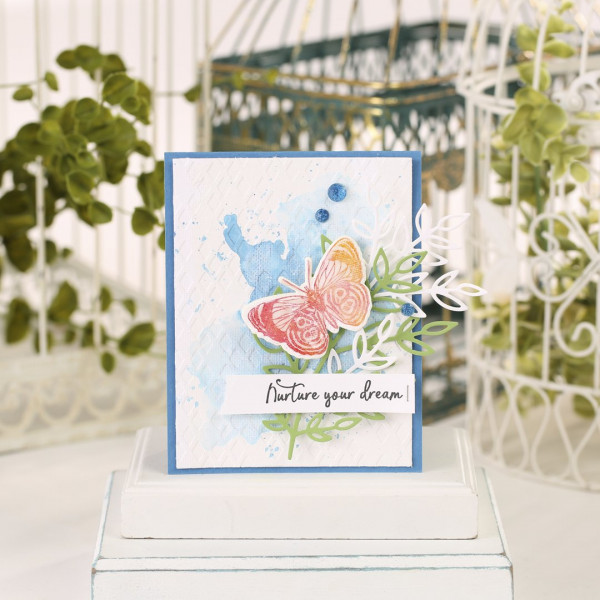Stamped Canvas Card