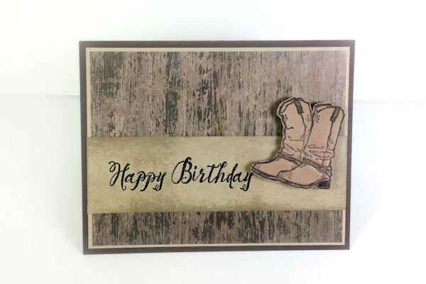 Stamped Faux Leather Card